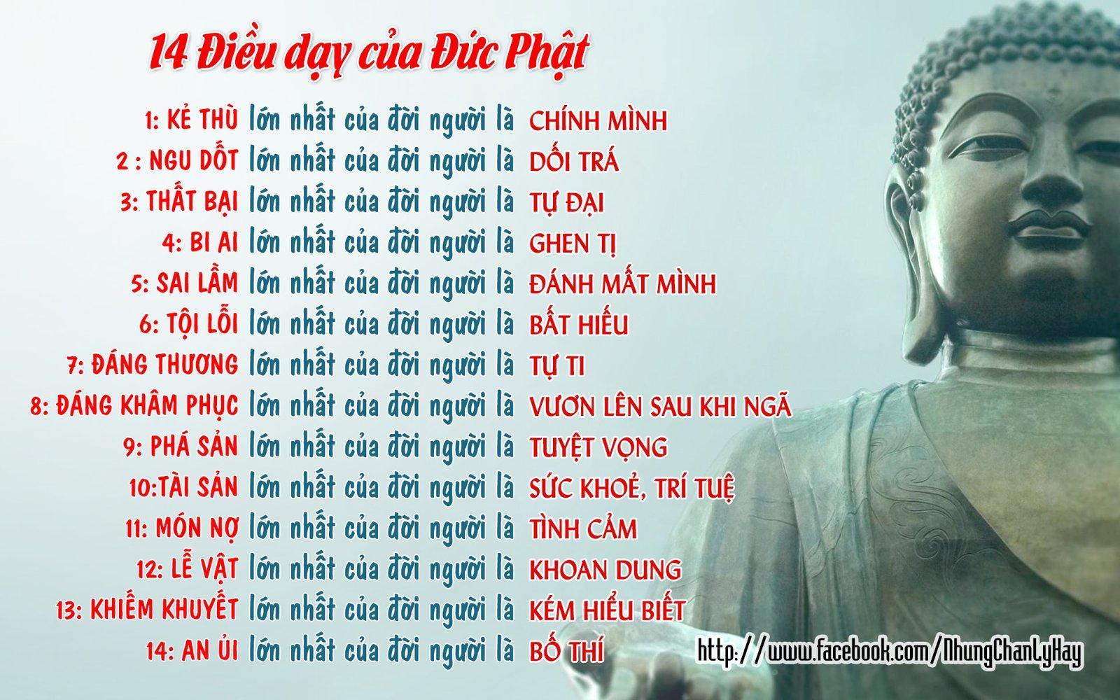 14 Điều Dạy Của Đức Phật